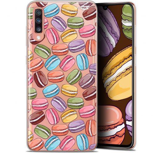 "Coque Gel Samsung Galaxy A70 (6.7"") Extra Fine Motif - Macarons"