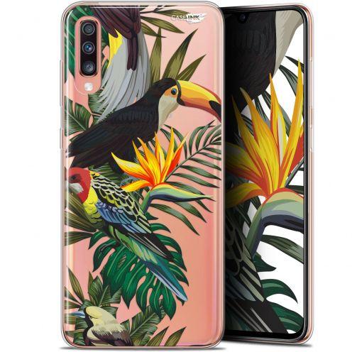 "Coque Gel Samsung Galaxy A70 (6.7"") Extra Fine Motif - Toucan Tropical"