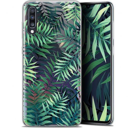 """Coque Gel Samsung Galaxy A70 (6.7"""") Extra Fine Motif - Feuilles des Tropiques"""