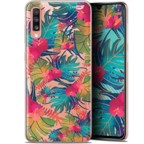 "Coque Gel Samsung Galaxy A70 (6.7"") Extra Fine Motif - Couleurs des Tropiques"