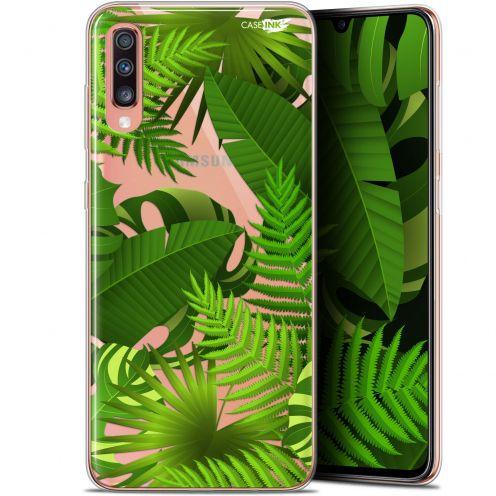 """Coque Gel Samsung Galaxy A70 (6.7"""") Extra Fine Motif - Plantes des Tropiques"""
