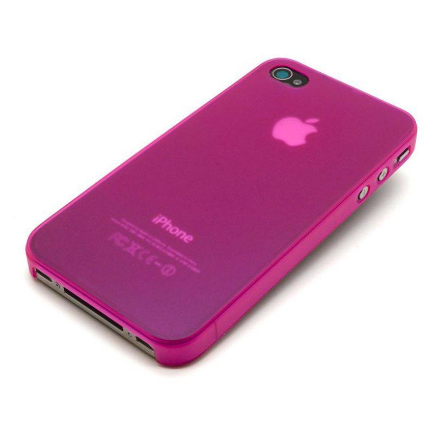 Visuel unique de Coque Ultra Fine 0.3mm Frost iPhone 4/4S Rose