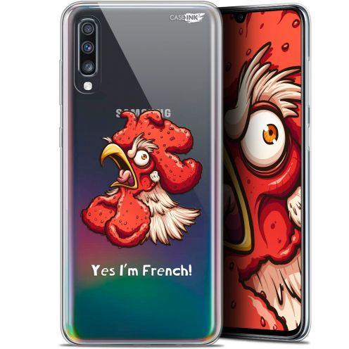 """Coque Gel Samsung Galaxy A70 (6.7"""") Extra Fine Motif -  I'm French Coq"""