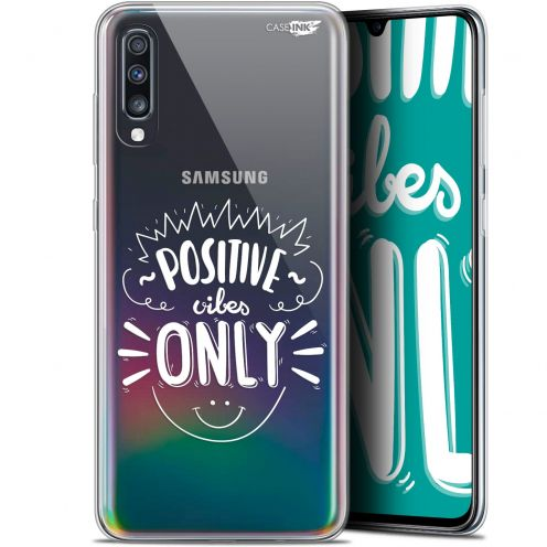 "Coque Gel Samsung Galaxy A70 (6.7"") Extra Fine Motif - Positive Vibes Only"