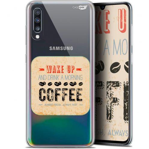 "Coque Gel Samsung Galaxy A70 (6.7"") Extra Fine Motif - Wake Up With Coffee"