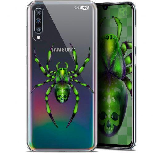 "Coque Gel Samsung Galaxy A70 (6.7"") Extra Fine Motif -  Arraignée Verte"