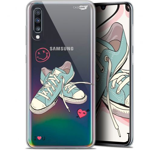 "Coque Gel Samsung Galaxy A70 (6.7"") Extra Fine Motif -  Mes Sneakers d'Amour"