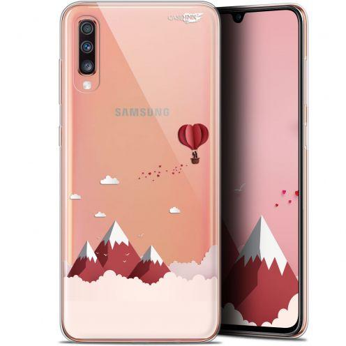 """Coque Gel Samsung Galaxy A70 (6.7"""") Extra Fine Motif - Montagne En Montgolfière"""