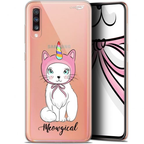 "Coque Gel Samsung Galaxy A70 (6.7"") Extra Fine Motif -  Ce Chat Est MEOUgical"