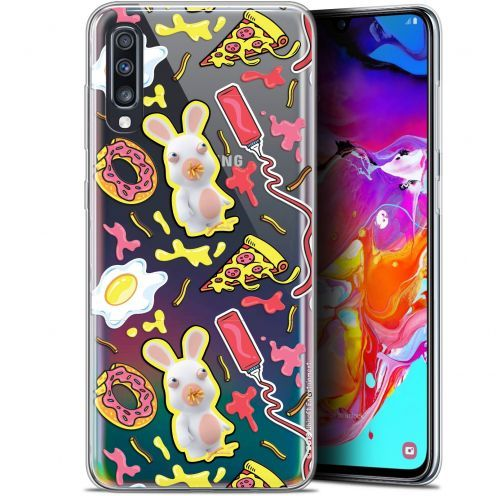 "Coque Gel Samsung Galaxy A70 (6.7"") Extra Fine Lapins Crétins™ - Egg Pattern"