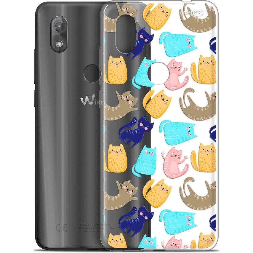 "Coque Gel Wiko View 2 (6"") Extra Fine Motif - Chat Danse"
