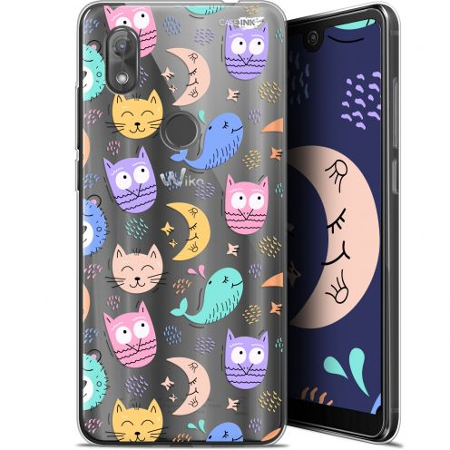 "Coque Gel Wiko View 2 (6"") Extra Fine Motif -  Chat Hibou"