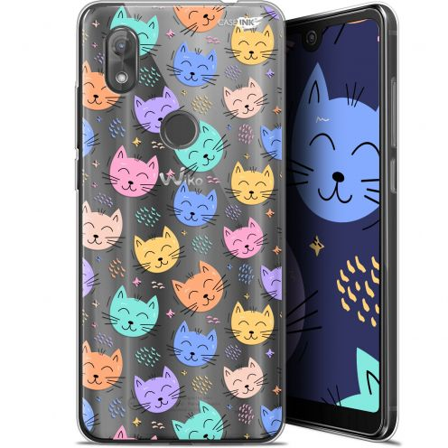 "Coque Gel Wiko View 2 (6"") Extra Fine Motif -  Chat Dormant"