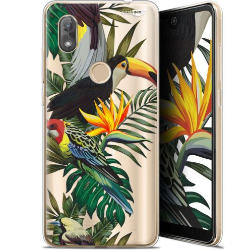 "Coque Gel Wiko View 2 (6"") Extra Fine Motif - Toucan Tropical"