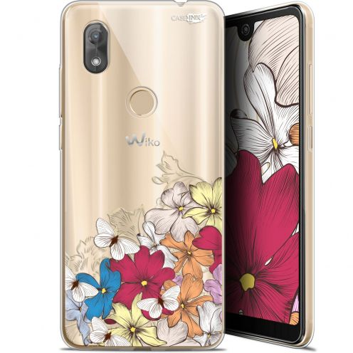 "Coque Gel Wiko View 2 (6"") Extra Fine Motif -  Nuage Floral"