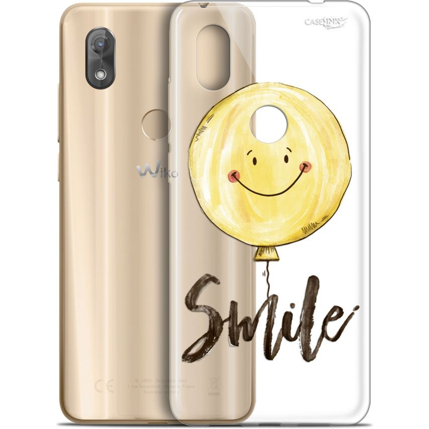 """Coque Gel Wiko View 2 (6"""") Extra Fine Motif - Smile Baloon"""