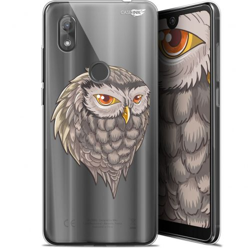 "Coque Gel Wiko View 2 (6"") Extra Fine Motif -  Hibou Draw"