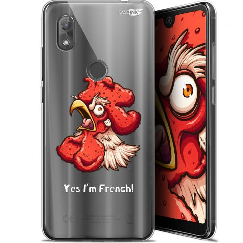 "Coque Gel Wiko View 2 (6"") Extra Fine Motif - I'm French Coq"