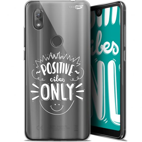 "Coque Gel Wiko View 2 (6"") Extra Fine Motif - Positive Vibes Only"