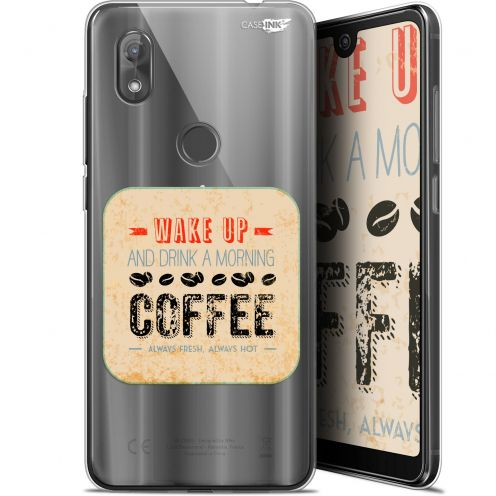 "Coque Gel Wiko View 2 (6"") Extra Fine Motif - Wake Up With Coffee"