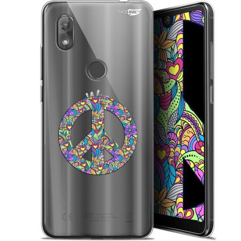 "Coque Gel Wiko View 2 (6"") Extra Fine Motif -  Peace And Love"