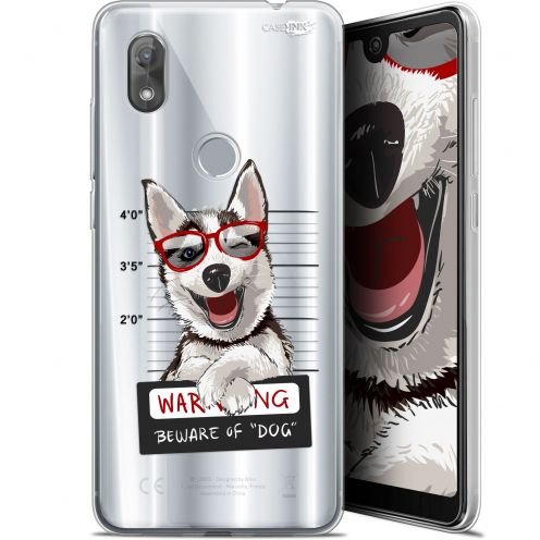 "Coque Gel Wiko View 2 (6"") Extra Fine Motif - Beware The Husky Dog"