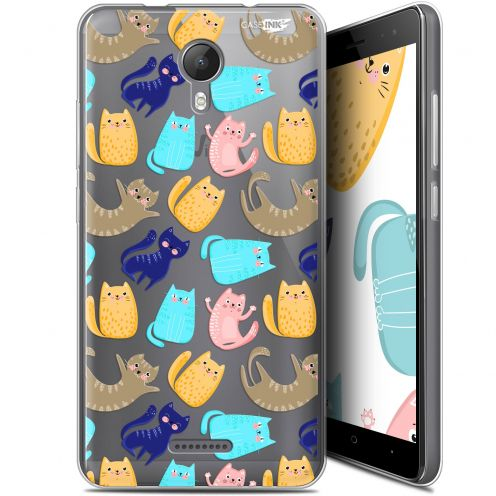 "Coque Gel Wiko Jerry 2 (5.0"") Extra Fine Motif - Chat Danse"