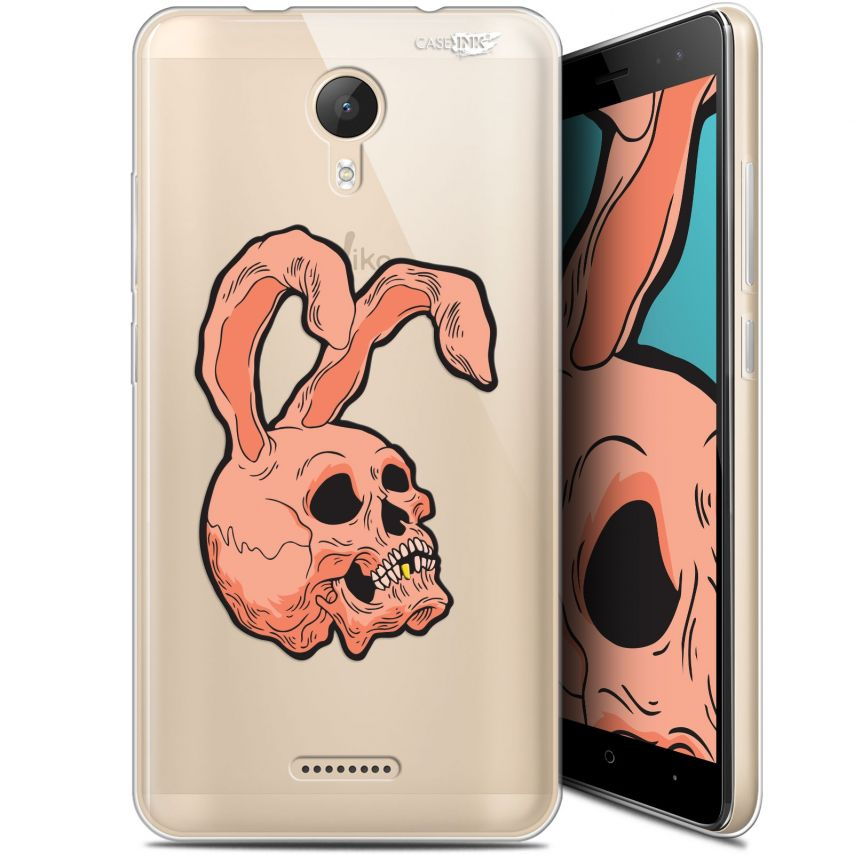 "Coque Gel Wiko Jerry 2 (5.0"") Extra Fine Motif - Rabbit Skull"