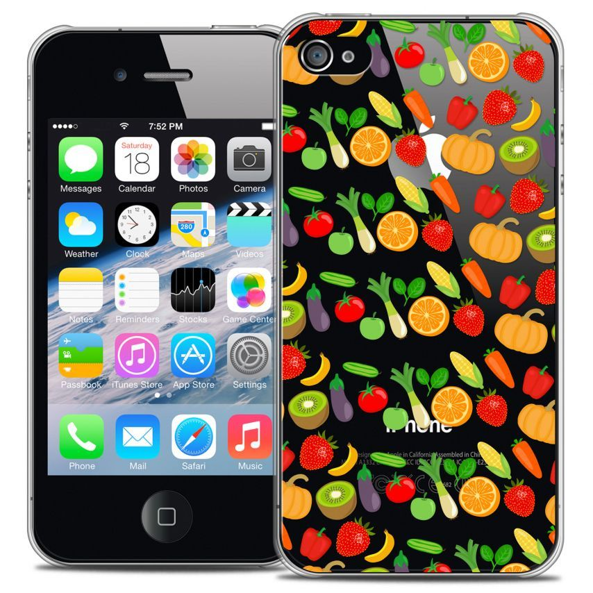 Coque Crystal iPhone 4/4s Extra Fine Foodie - Healthy