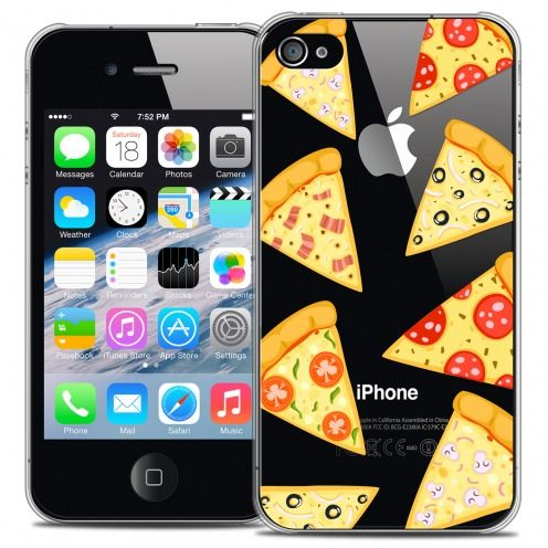 Coque Crystal iPhone 4/4s Extra Fine Foodie - Pizza