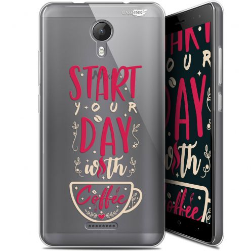 """Coque Gel Wiko Jerry 2 (5.0"""") Extra Fine Motif -  Start With Coffee"""