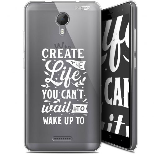 """Coque Gel Wiko Jerry 2 (5.0"""") Extra Fine Motif -  Wake Up Your Life"""