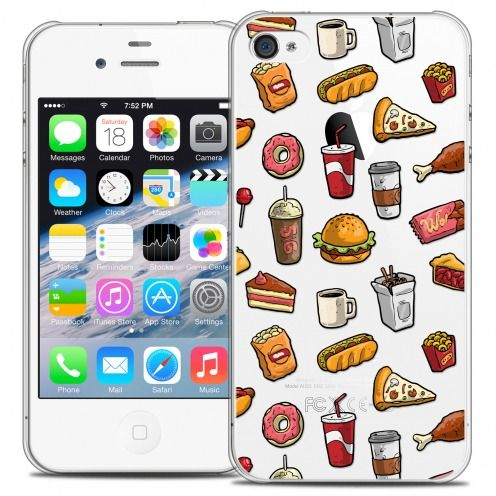 Coque Crystal iPhone 4/4s Extra Fine Foodie - Fast Food