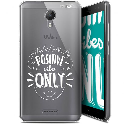 "Coque Gel Wiko Jerry 2 (5.0"") Extra Fine Motif - Positive Vibes Only"
