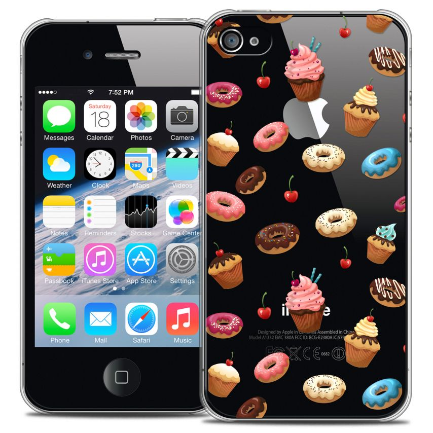 Coque Crystal iPhone 4/4s Extra Fine Foodie - Donuts