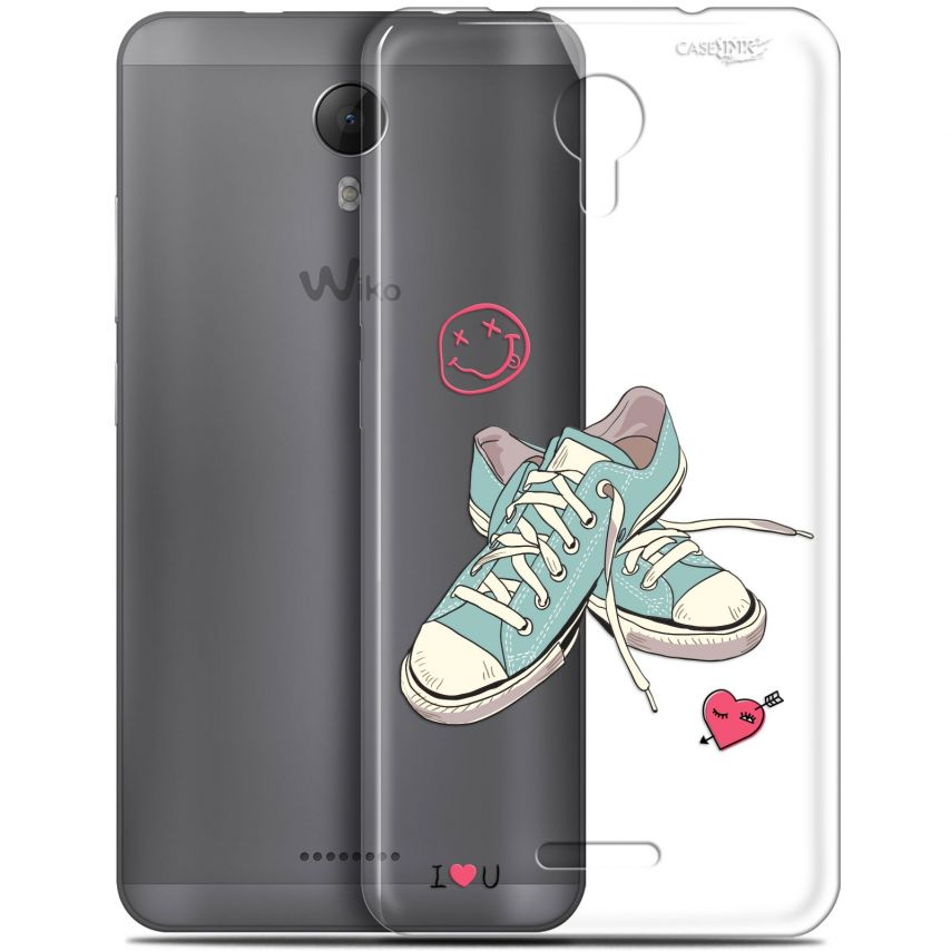 """Coque Gel Wiko Jerry 2 (5.0"""") Extra Fine Motif - Mes Sneakers d'Amour"""
