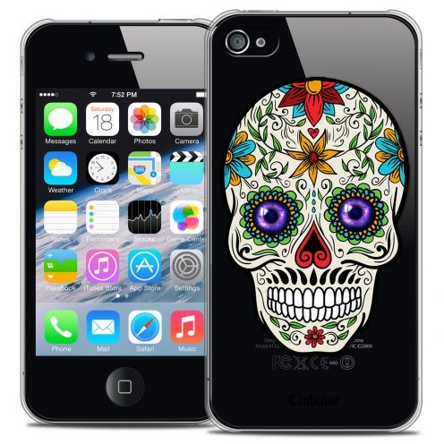 Coque Crystal iPhone 4/4s Extra Fine Skull - Maria's Flower