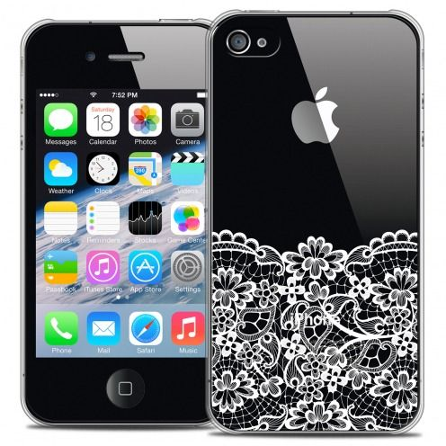 Coque Crystal iPhone 4/4s Extra Fine Spring - Bas dentelle