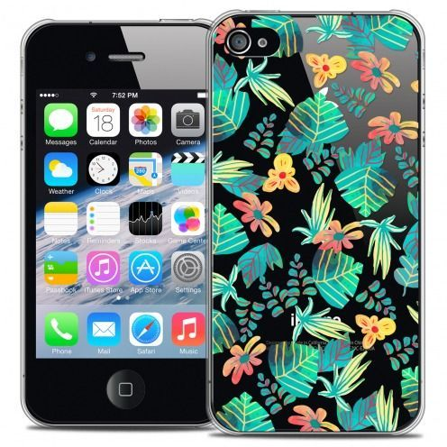 Coque Crystal iPhone 4/4s Extra Fine Spring - Tropical