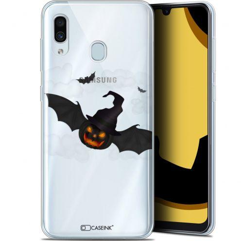 "Coque Gel Samsung Galaxy A30 (6.4"") Extra Fine Halloween - Chauve Citrouille"