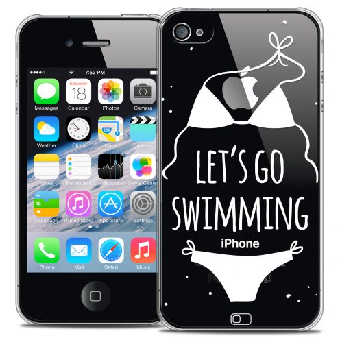 Coque Crystal iPhone 4/4s Extra Fine Summer - Let's Go Swim