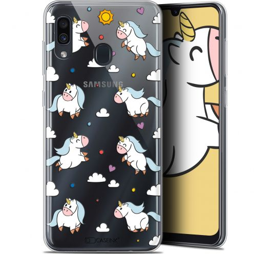"Coque Gel Samsung Galaxy A30 (6.4"") Extra Fine Fantasia - Licorne In the Sky"