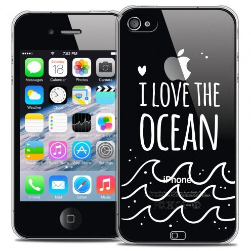 Coque Crystal iPhone 4/4s Extra Fine Summer - I Love Ocean