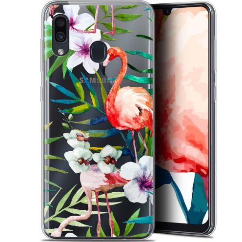 """Coque Gel Samsung Galaxy A30 (6.4"""") Extra Fine Watercolor - Tropical Flamingo"""
