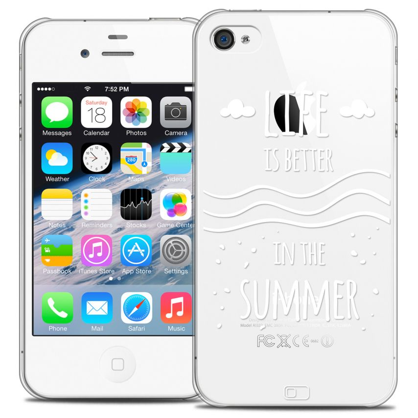 Coque Crystal iPhone 4/4s Extra Fine Summer - Life's Better