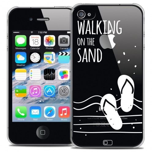 Coque Crystal iPhone 4/4s Extra Fine Summer - Walking on the Sand