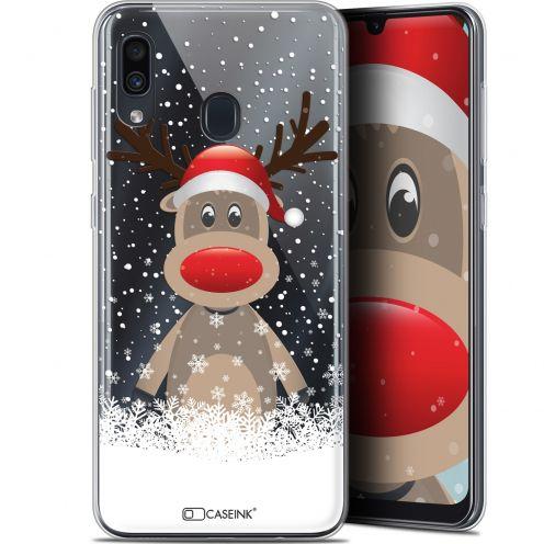 """Coque Gel Samsung Galaxy A30 (6.4"""") Extra Fine Noël 2017 - Cerf au Bonnet"""
