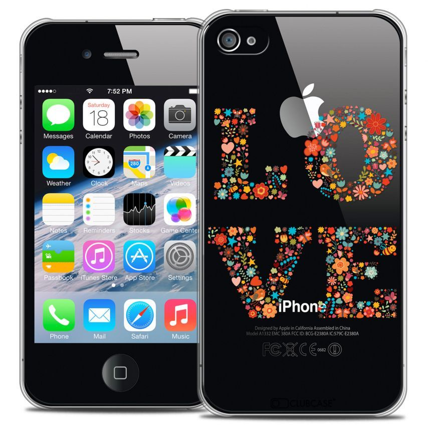 Coque Crystal iPhone 4/4s Extra Fine Summer - Love Flowers