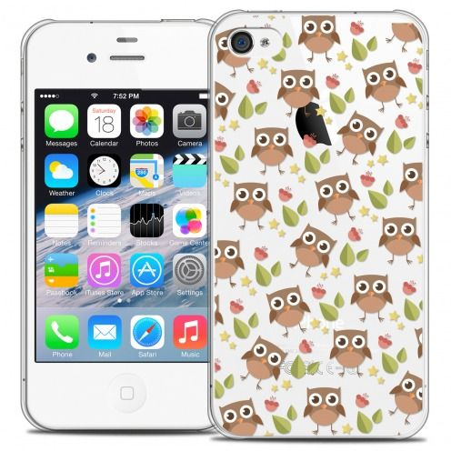 Coque Crystal iPhone 4/4s Extra Fine Summer - Hibou