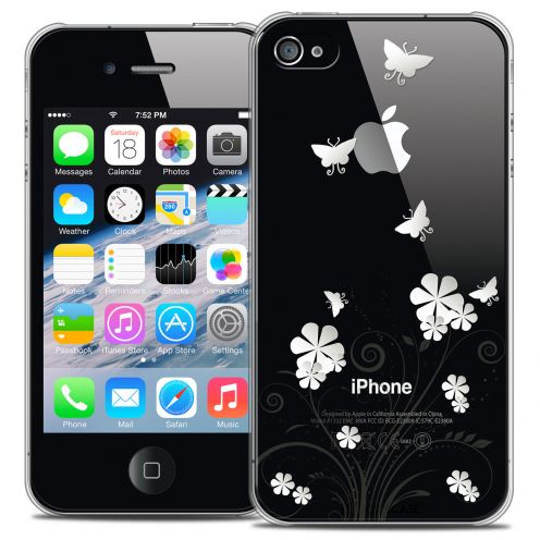 Coque Crystal iPhone 4/4s Extra Fine Summer - Papillons